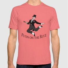 Putin on the Ritz Mens Fitted Tee Pomegranate MEDIUM