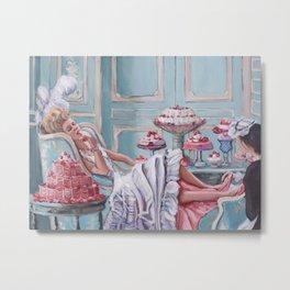 Marie Antoinette Eats Cake Metal Print