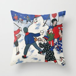 Snowball Fight - Digital Remastered Edition Throw Pillow