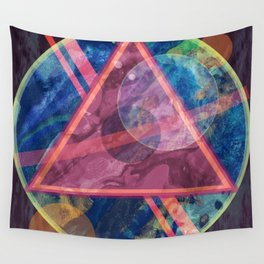 Mystic Astrology Geometry Wall Tapestry