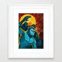 planet of the apes Framed Art Prints featuring Dawn Of The Planet Of The Apes by KD Artwork