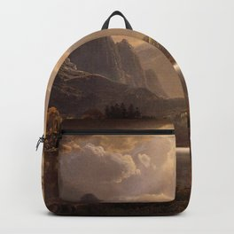 Estes Park Colorado 1869 By Albert Bierstadt | Reproduction Painting Backpack
