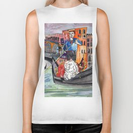 Lovers in Venice Biker Tank
