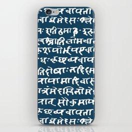 Sanskrit // Blue Stone iPhone Skin