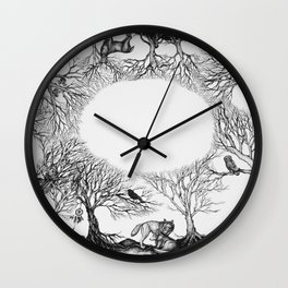 The last person in the world Wall Clock