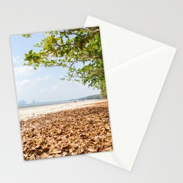 Leaves on the beach at Pak Meng, Trang Province, Thailand Stationery Cards