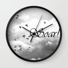 Soar Birds in Flight A610BW Wall Clock