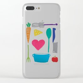 Palatable Printmaking Clear iPhone Case