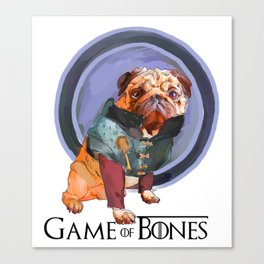 Game of Bones Tyrian as a Pug Canvas Print