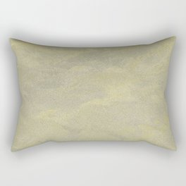 Modern Masters Metallic Plaster - Aged Gold and Silver Fox - Custom Glam Rectangular Pillow