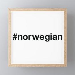 NORWEGIAN Hashtag Framed Mini Art Print