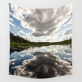 clouds reflecting Wall Tapestry