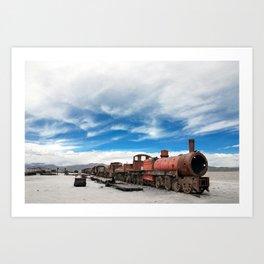 On the road again, Bolivia Art Print