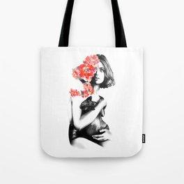 Natalia Vodianova // Fashion Illustration Tote Bag