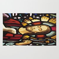 jesus Area & Throw Rugs featuring JESUS. by Aldo Couture