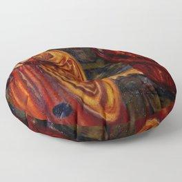 "Edward Burne-Jones ""Merlin and Nimue from Le Morte d'Arthur"" Floor Pillow"