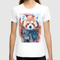 red panda T-shirts featuring Red panda by Slaveika Aladjova
