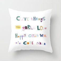 CUTE THINGS Throw Pillow