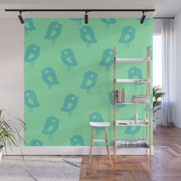 Little Birds (mint) Wall Mural