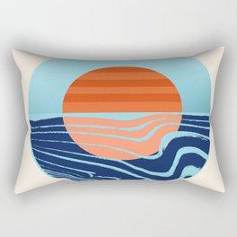 Sweetness - retro minimal 70s style throwback sunset sunrise ocean socal art Rectangular Pillow