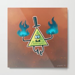 Gravity Falls - Burn Metal Print