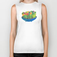 succulents Biker Tanks featuring Succulents by Cat Coquillette