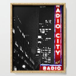Radio City Photography Serving Tray