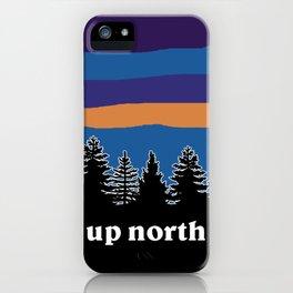 up north, blue & purple iPhone Case
