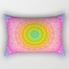 mandala dahlia Rectangular Pillow