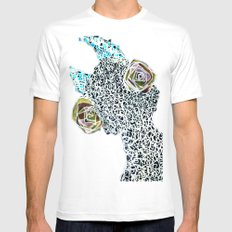 Thing Other 1/2 MEDIUM White Mens Fitted Tee