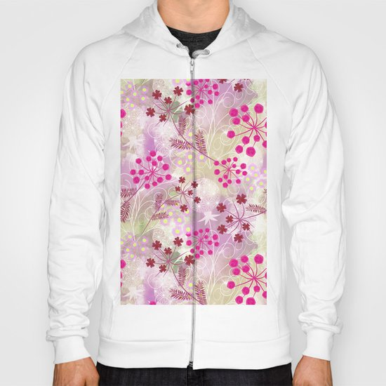 bright floral pattern ,watercolor background. Hoody
