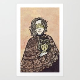 The Seer and the Owl Art Print