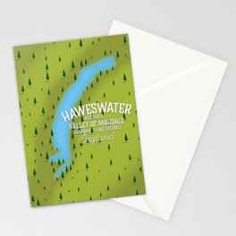 Haweswater, lake district England travel poster Stationery Cards