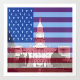 United States Capitol Building Art Print