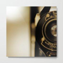 Vintage Folding Camera Metal Print