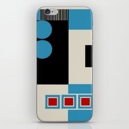 Abstract in Blue, Black, Red and Beige. See Companion Piece iPhone Skin