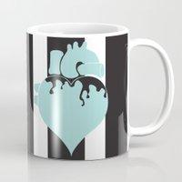 pastel goth Mugs featuring Pastel Goth Heart by Minette Wasserman