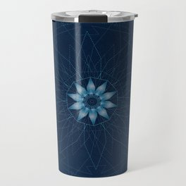 Crystal Flower Mandala Travel Mug