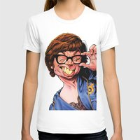 snl T-shirts featuring Austin Power, Mike Myers, color by Patrick Dea