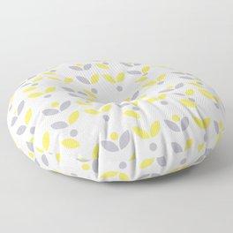 Yellow and Grey Abstract Flower Pattern #society6 #decor #buyart #artprint Floor Pillow