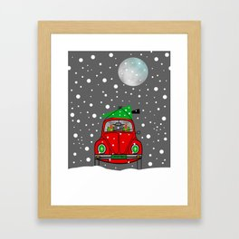 Santa Lane Framed Art Print