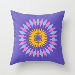 Purple circle blue and orange pattern art Throw Pillow