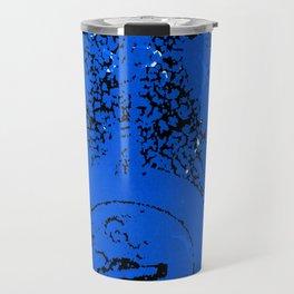 Blue Valve on Black Travel Mug
