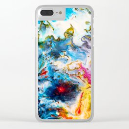 Abstract Melt VII Clear iPhone Case