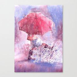 Umbrella watercolor illustration Canvas Print