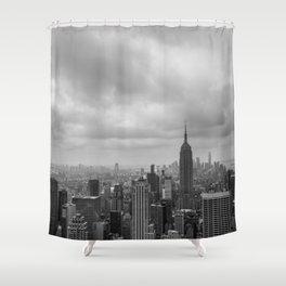 New York Black and White Shower Curtain