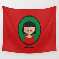 amelie Wall Tapestries featuring Amelie by Juliana Motzko