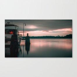 Moody Rose Sunset Canvas Print