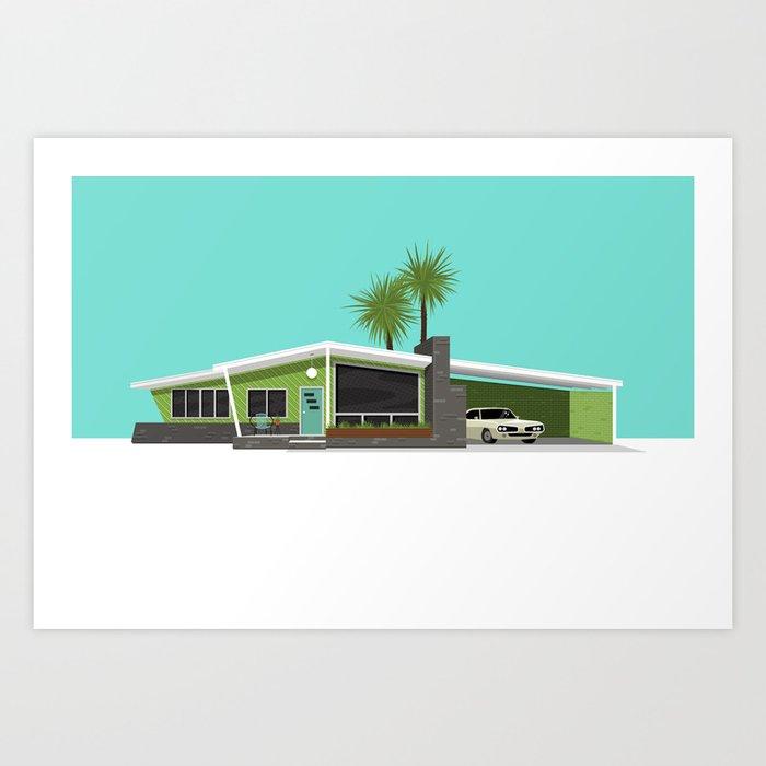 Mid Century House, Austin Art Print