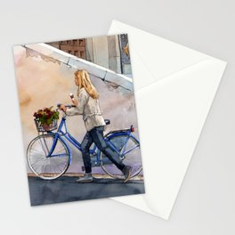 Gelato and Flowers Stationery Cards